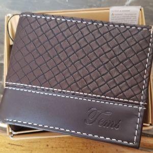 Vegan leather mens wallet